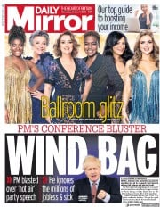 Daily Mirror front page for 7 October 2020