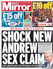 Daily Mirror (UK) Newspaper Front Page for 7 December 2019