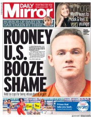Daily Mirror (UK) Newspaper Front Page for 7 January 2019
