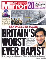 Daily Mirror () Newspaper Front Page for 7 January 2020