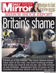 Daily Mirror (UK) Newspaper Front Page for 7 February 2019