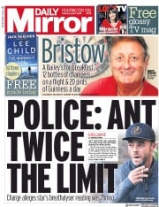 Daily Mirror (UK) Newspaper Front Page for 7 April 2018