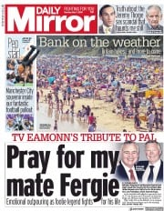 Daily Mirror (UK) Newspaper Front Page for 7 May 2018