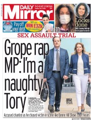 Daily Mirror front page for 7 July 2020