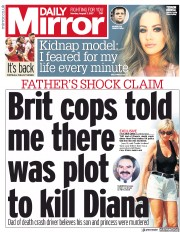 Daily Mirror (UK) Newspaper Front Page for 7 August 2017