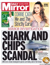 Daily Mirror (UK) Newspaper Front Page for 7 September 2019