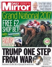 Daily Mirror (UK) Newspaper Front Page for 8 April 2017