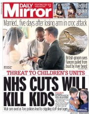 Daily Mirror (UK) Newspaper Front Page for 8 May 2018