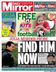 Daily Mirror front page for 8 May 2021