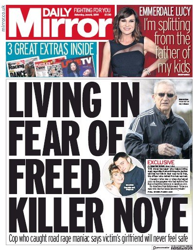 Daily Mirror Newspaper Front Page (UK) for 8 June 2019