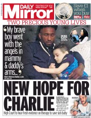 Daily Mirror (UK) Newspaper Front Page for 8 July 2017