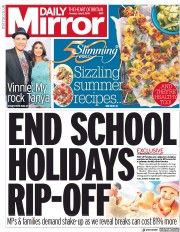 Daily Mirror (UK) Newspaper Front Page for 8 July 2019