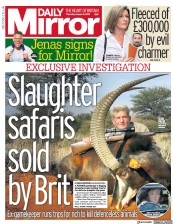 Daily Mirror () Newspaper Front Page for 8 August 2019