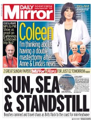 Daily Mirror front page for 8 August 2020