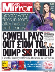 Daily Mirror (UK) Newspaper Front Page for 9 November 2018