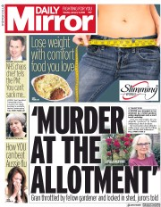 Daily Mirror (UK) Newspaper Front Page for 9 January 2018