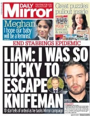 Daily Mirror (UK) Newspaper Front Page for 9 March 2019
