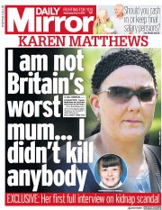 Daily Mirror (UK) Newspaper Front Page for 9 May 2018