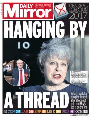 Daily Mirror (UK) Newspaper Front Page for 9 June 2017