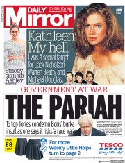 Daily Mirror (UK) Newspaper Front Page for 9 August 2018