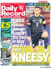 Daily Record () Newspaper Front Page for 12 June 2021