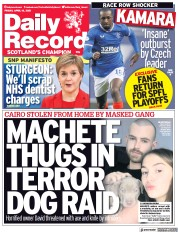 Daily Record () Newspaper Front Page for 16 April 2021