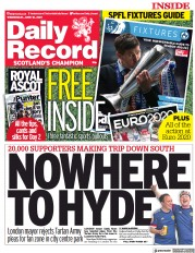 Daily Record () Newspaper Front Page for 16 June 2021