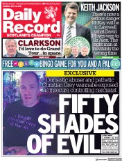 Daily Record () Newspaper Front Page for 19 July 2021
