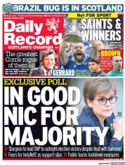Daily Record (UK) Newspaper Front Page for 1 March 2021