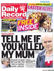 Daily Record (UK) Newspaper Front Page for 1 April 2021
