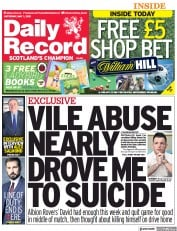 Daily Record (UK) Newspaper Front Page for 1 May 2021