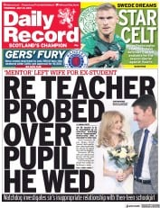 Daily Record () Newspaper Front Page for 22 July 2021