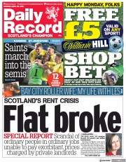 Daily Record () Newspaper Front Page for 26 April 2021