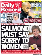 Daily Record (UK) Newspaper Front Page for 30 March 2021