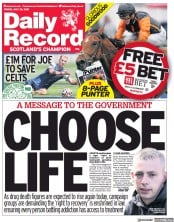 Daily Record () Newspaper Front Page for 30 July 2021