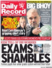 Daily Record () Newspaper Front Page for 31 May 2021