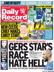 Daily Record () Newspaper Front Page for 5 April 2021