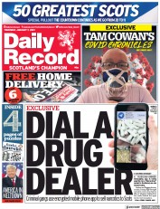 Daily Record (UK) Newspaper Front Page for 7 January 2021