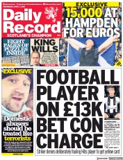 Daily Record () Newspaper Front Page for 7 April 2021