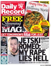 Daily Record (UK) Newspaper Front Page for 9 January 2021