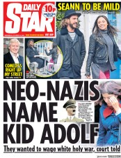 Daily Star (UK) Newspaper Front Page for 10 October 2018