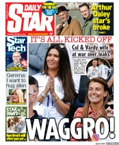 Daily Star (UK) Newspaper Front Page for 10 October 2019
