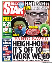 Daily Star front page for 10 October 2020