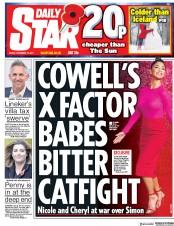 Daily Star (UK) Newspaper Front Page for 10 November 2017