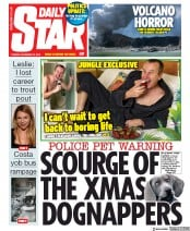 Daily Star (UK) Newspaper Front Page for 10 December 2019