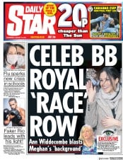 Daily Star (UK) Newspaper Front Page for 10 January 2018
