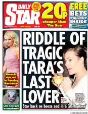 Daily Star (UK) Newspaper Front Page for 10 February 2017