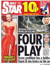 Daily Star (UK) Newspaper Front Page for 10 April 2018