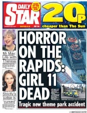 Daily Star (UK) Newspaper Front Page for 10 May 2017