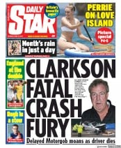 Daily Star (UK) Newspaper Front Page for 10 June 2019